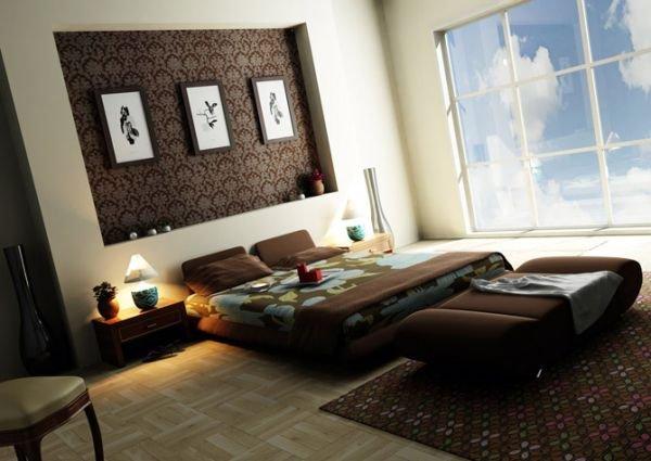Азиатский стиль в интерьере спальни
