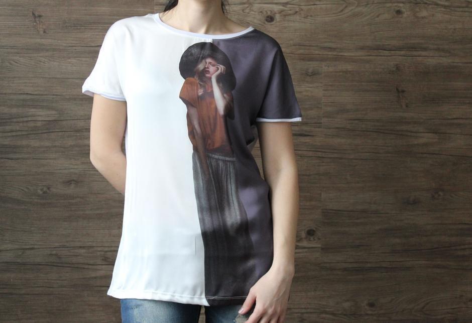 Женская футболка универсальный вид одежды