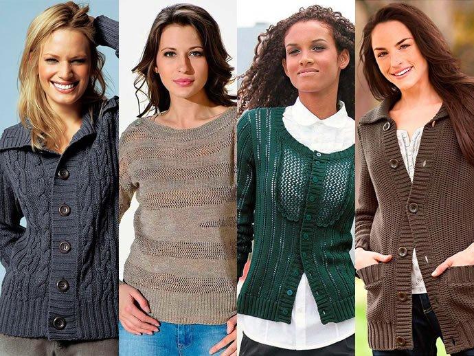 Мода на вязаные кофточки наступающей зимой