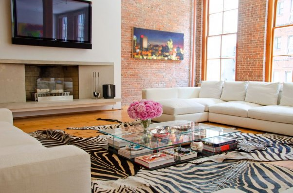 Как оформить гостиную в стиле лофт?