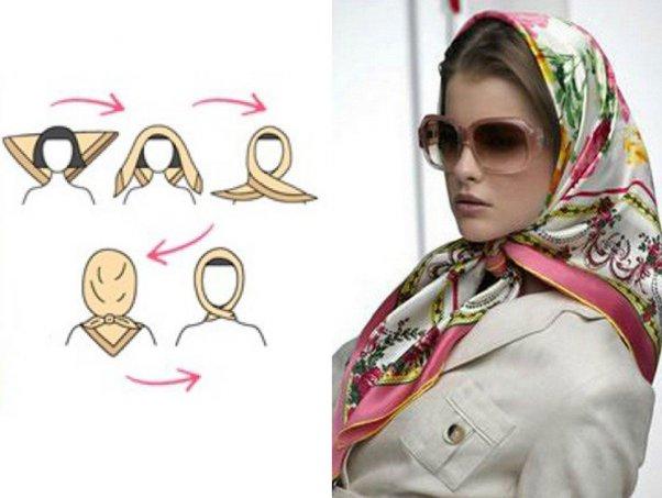Новые способы завязывания платка на голове